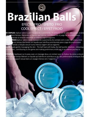 Boules de massage Brésiliennes effet fraîcheur - BZ6134