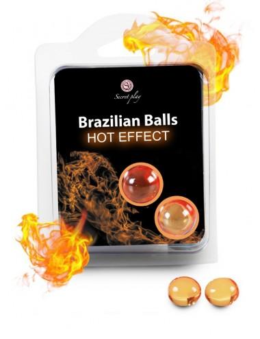 Boules de massage Brésiliennes effet chaleur - BZ5754