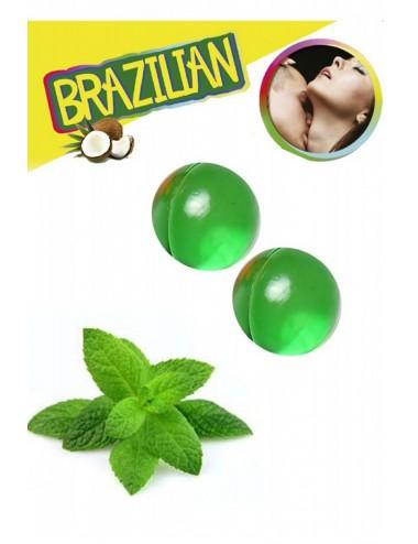 Boules de massage Brésiliennes menthe - BZ3858