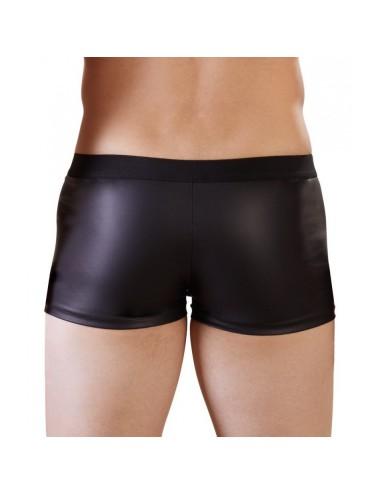 Short Noir Avec Zip Frontal - L
