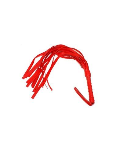 Fouet rouge en PVC 45 cm