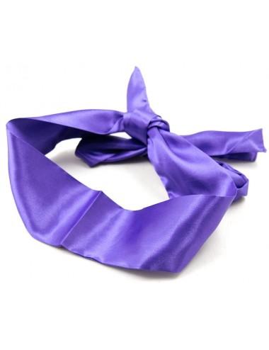 Bandeau en Satin Violet - 140 cm