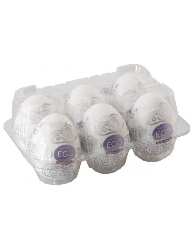 Boite de 6 Tenga EGG Cloudy violet