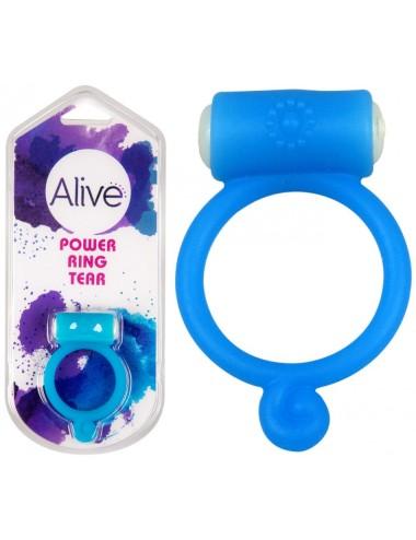 Anneau vibrant Power Ring Tear bleu