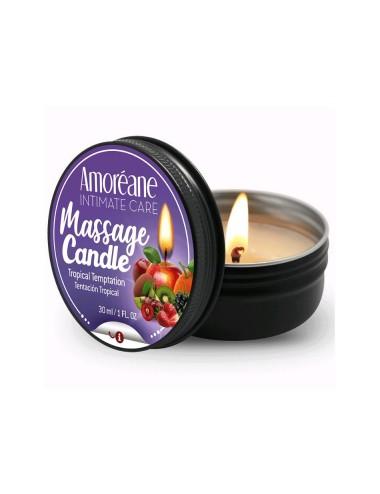 Bougie de Massage Saveur Fruits Exotiques - 30 ml