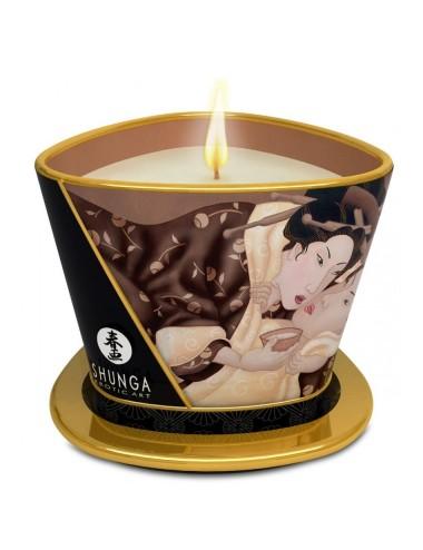 Bougie de massage Lueur et Caresse Chocolat enivrant - 170 ml
