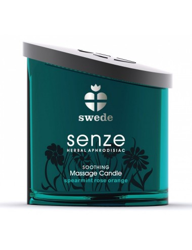 Bougie de massage Soothing Senze Swede Menthe Orange - 150 ml