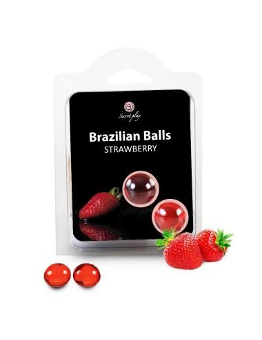 Boules Bresiliennes Saveur Fraise X2
