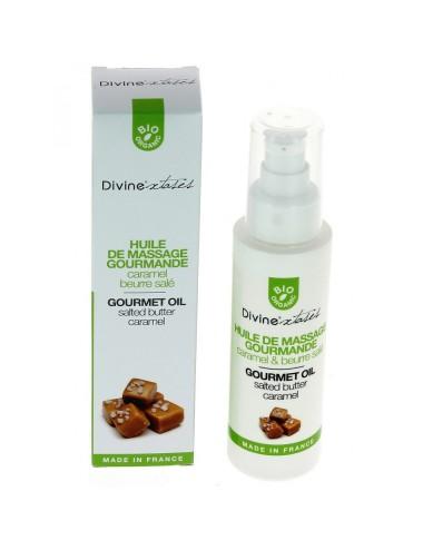 Huile de Massage Bio Saveur Caramel Beurre Salé - 100 ml