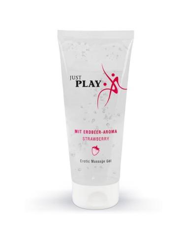 Gel de Massage Saveur Fraise Just Play - 200 ml
