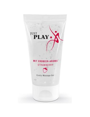 Gel de Massage Saveur Fraise Just Play - 50 ml
