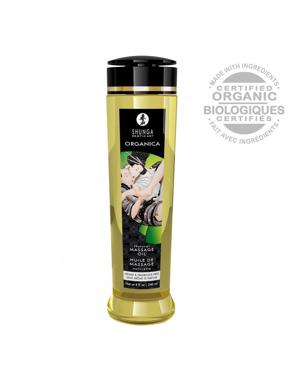 Huile de Massage Biologique Nature - 240 ml