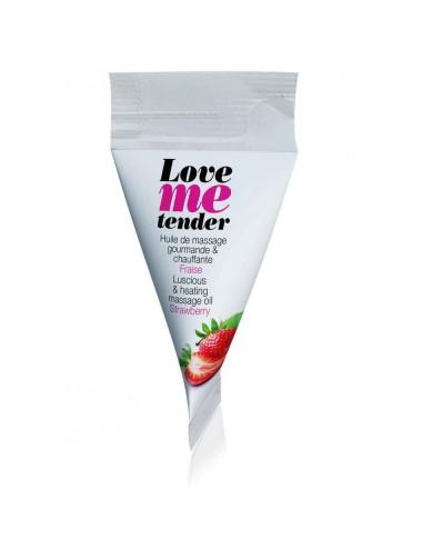 Berlingot d'huile de massage saveur fraise - 10 ml
