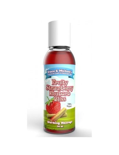 Huile Chauffante VM Saveur Fraise Rhubarbe - 50 ml