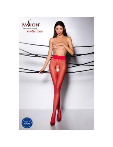 Collant Ouvert Rouge TI001 - T 3/4