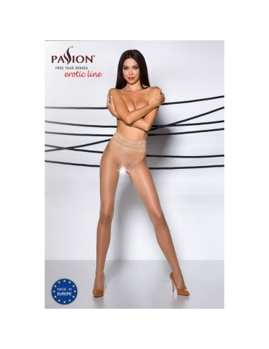 Collant Ouvert Beige TI001 - T 1/2