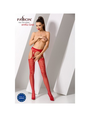 Collant Rouge Sexy S002 - TU