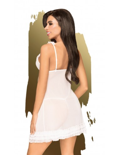 Babydoll et string assorti Blanc After sunset - PH0009WHT