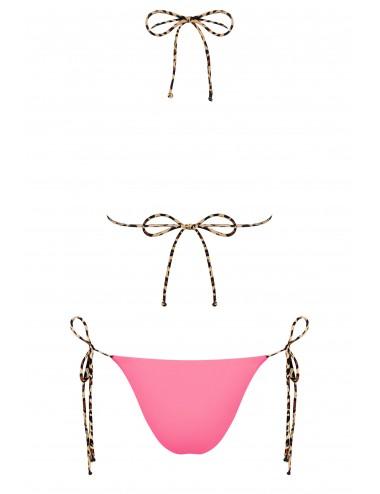 Lingerie - Maillots de bain et tenues de plage - Maillot de bain réversible 2 pcs - California - Rose/Imprimé animal - Obsessive