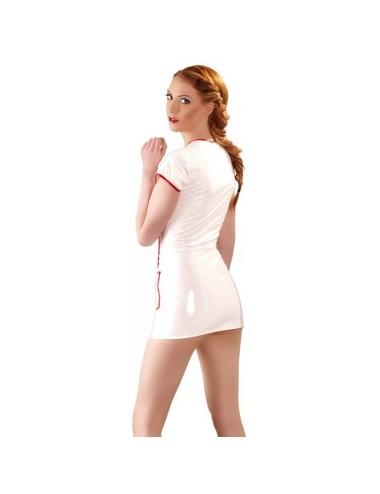 Tenue Blanche en Vinyle Look Infirmiere - XL