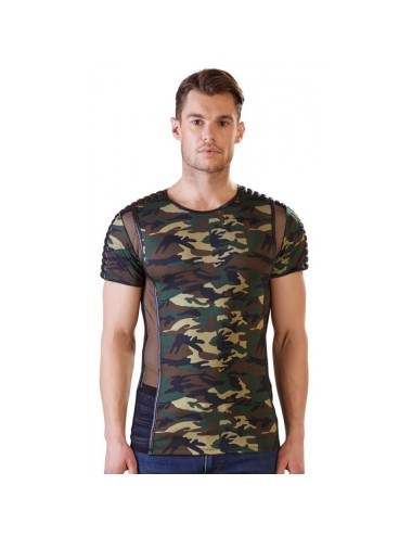 Tee Shirt Camouflage et Tulle - XXL