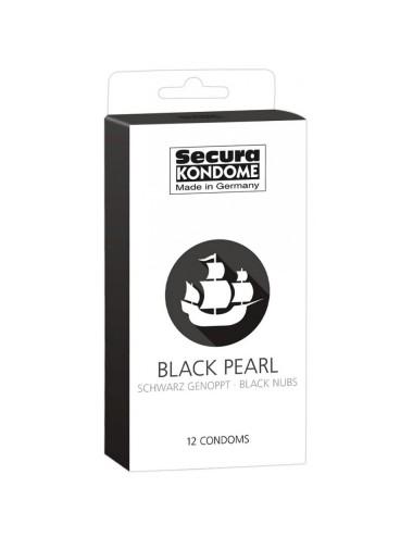 12 Préservatifs Noirs Perlés - Black Pearl