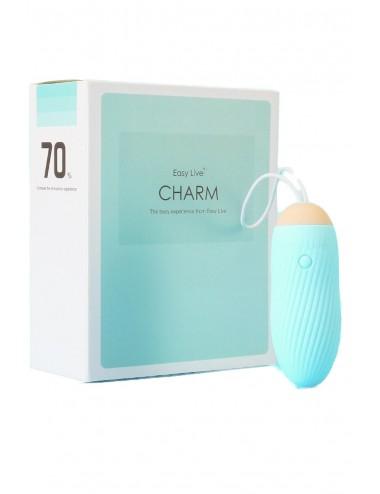 Oeuf vibrant bleu télécommandé avec 9 vitesses waterproof USB - WW-CHARMBLU