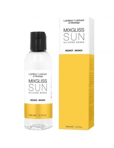 2 en 1 Lubrifiant et huile de massage silicone Mixgliss Sun Monoï 100 ML - MG2212