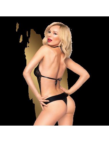 Lingerie - Bodys - Body noire en dentelle délicate offre un décolleté Perfect lover - Penthouse
