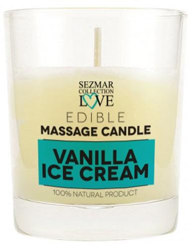 Bougie de massage glace vanille 100ml - SEZ045