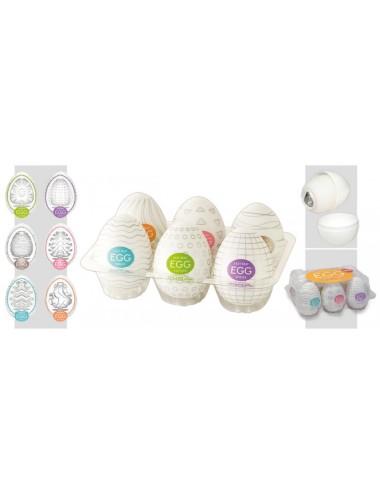 Boite de 6 masturbateurs Tenga Eggs Variety 1