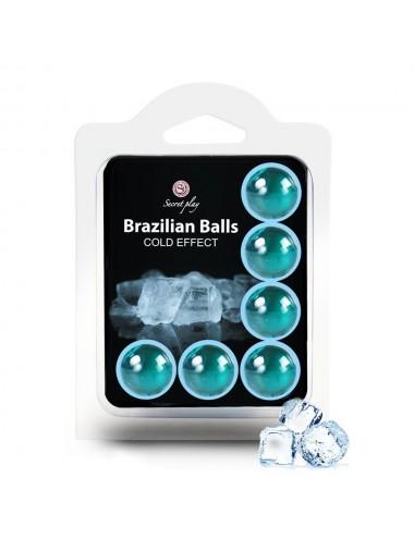 6 Boules de massage Brésiliennes effet fraîcheur - BZ6131