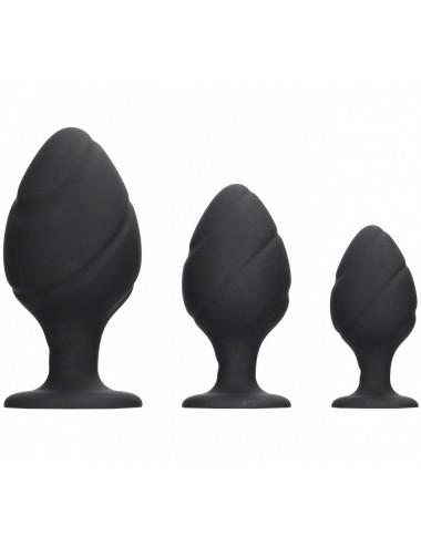 Set de 3 plugs Anaux en Silicone Swirled